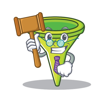 Judge funnel character cartoon style