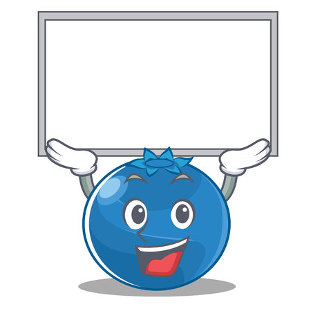 Up board blueberry character cartoon style vector illustration.