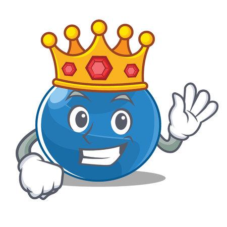 King blueberry character cartoon style illustration.