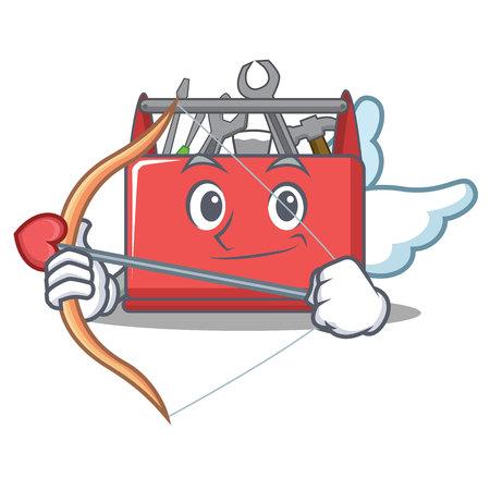 Cupid tool box character cartoon vector illustration