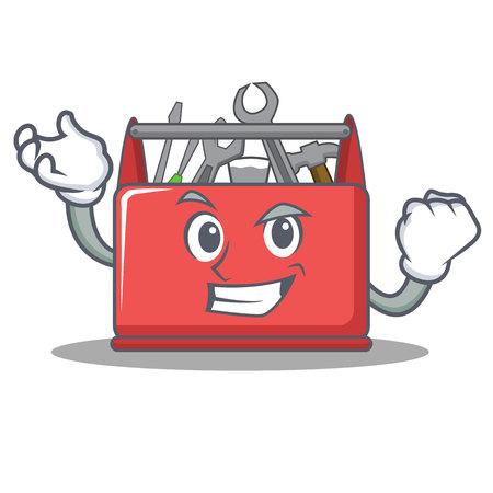 Successful tool box character cartoon