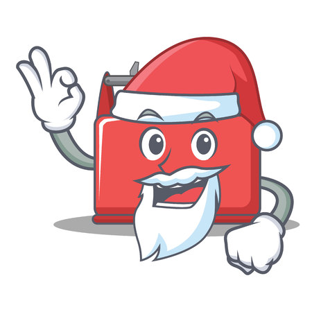 Santa tool box character cartoon vector illustration.