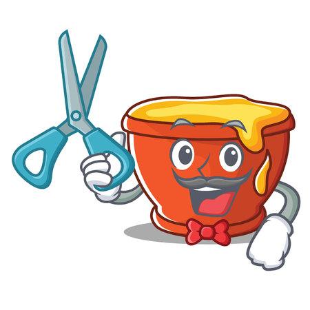 Barber honey character cartoon style vector illustration