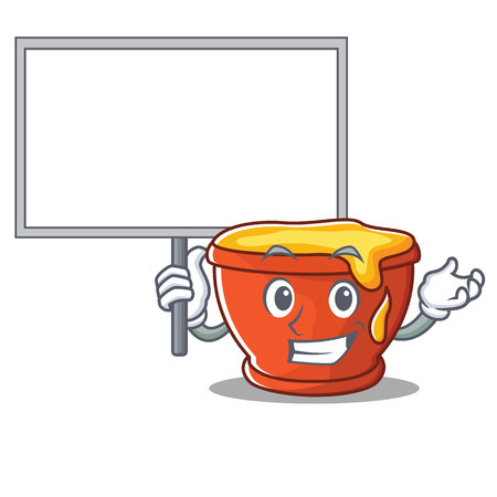 Bring board honey character cartoon style illustration.