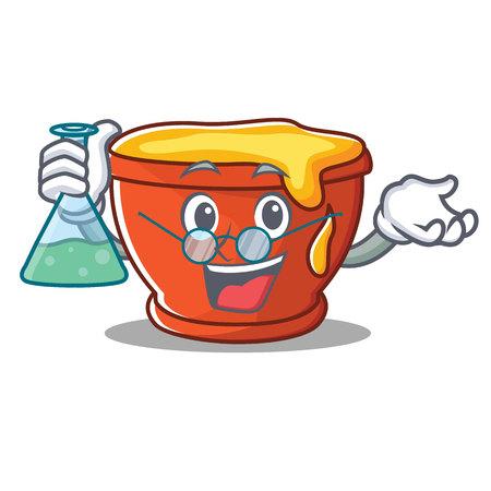 Professor honey character cartoon style vector illustration