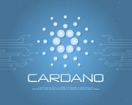 Cardano background collection stock vector illustration