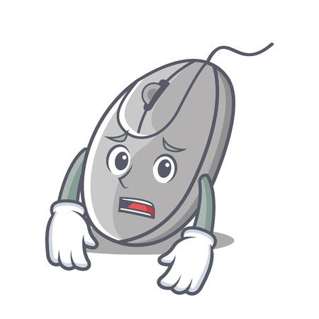 Afraid mouse mascot cartoon style vector illustration