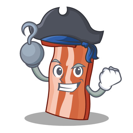 Pirate bacon character Illustration