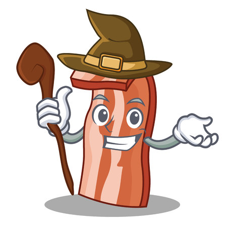 Witch bacon cartoon character