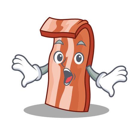 Successful bacon mascot cartoon style vector illustration