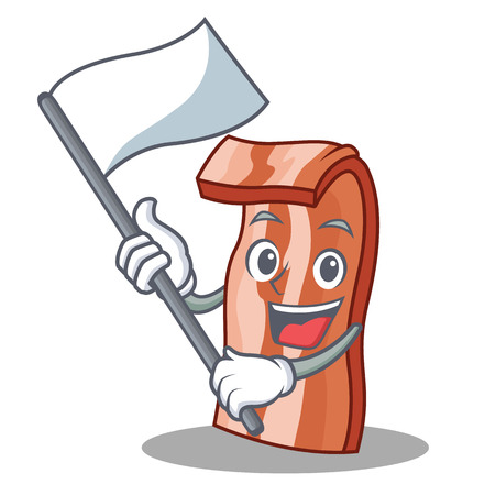With flag bacon character