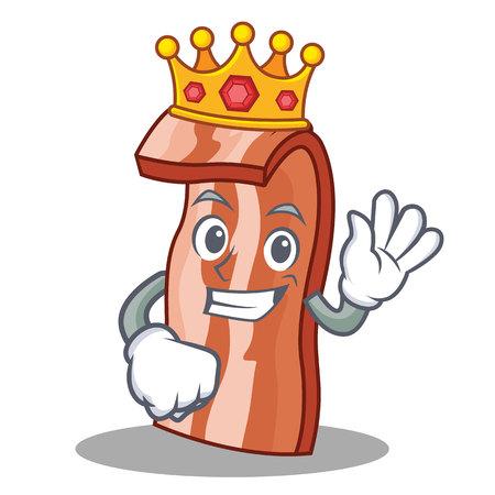 King bacon character Illustration