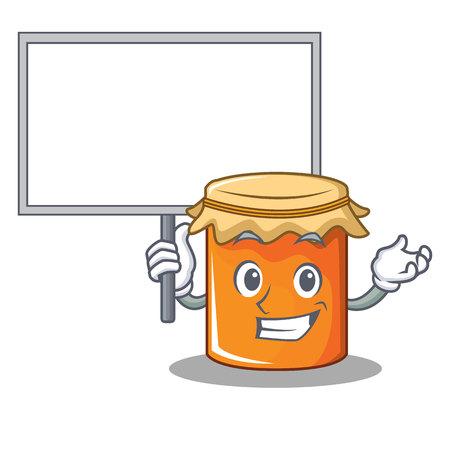 Bring board jam character cartoon style vector illustration Illustration
