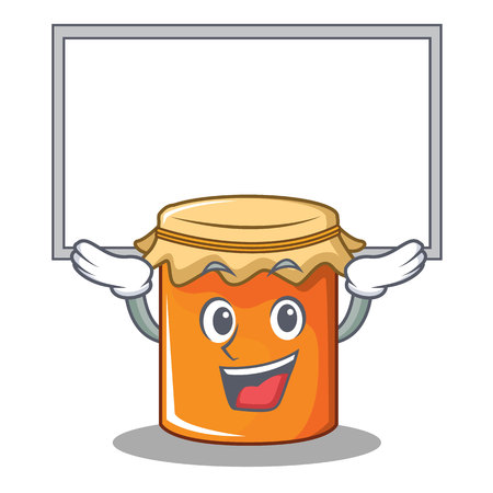 Up board jam character cartoon style vector illustration