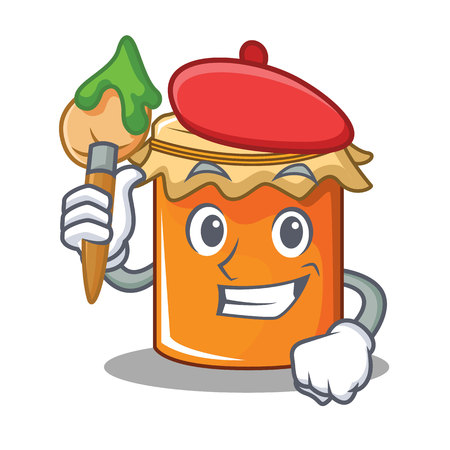 Artist jam character cartoon style vector illustration