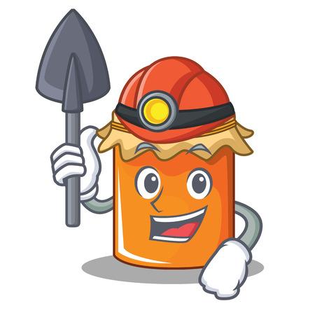 Miner jam mascot cartoon style vector illustration