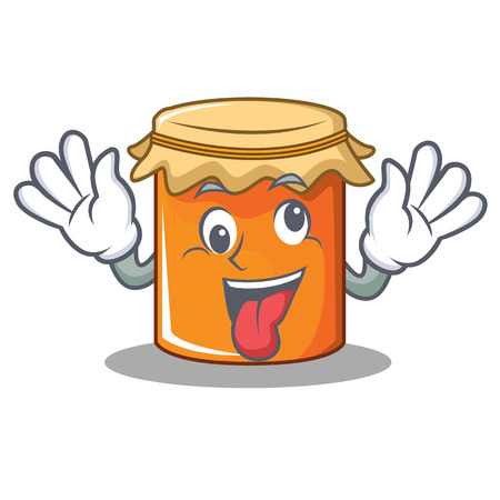 Crazy jam mascot cartoon style vector illustration Illustration