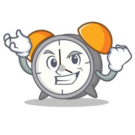 Successful alarm clock character cartoon vector illustration Illustration