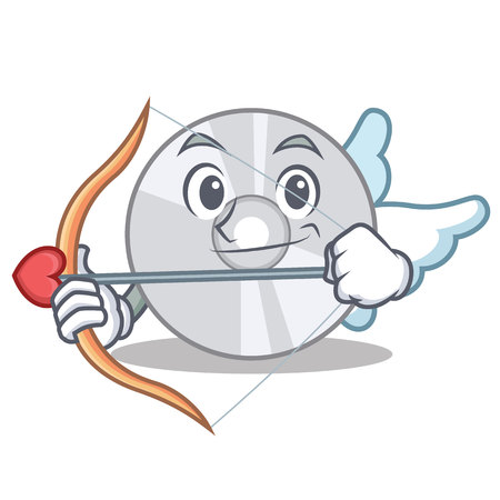 Cupid CD character cartoon style vector illustration