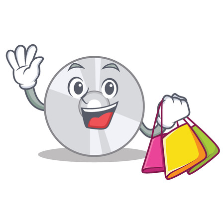 Shopping CD character cartoon style Illustration