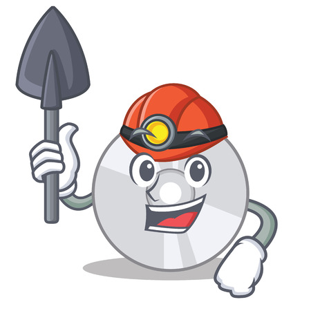 Miner CD mascot cartoon style Illustration