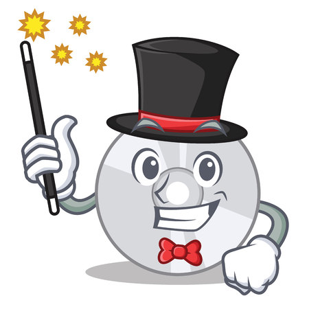Magician CD mascot cartoon style