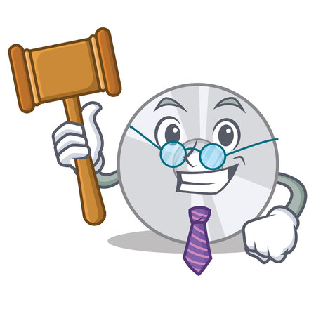 Judge CD mascot cartoon style