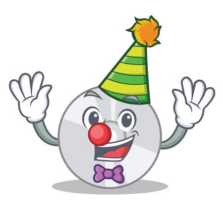 Clown CD mascot cartoon style Illustration