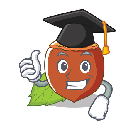 Graduation hazelnut character cartoon style