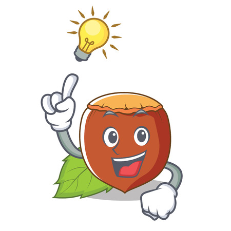Have an idea hazelnut mascot cartoon style