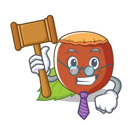 Judge hazelnut mascot cartoon style