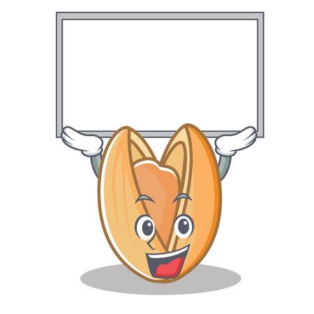 Up board pistachio nut character cartoon