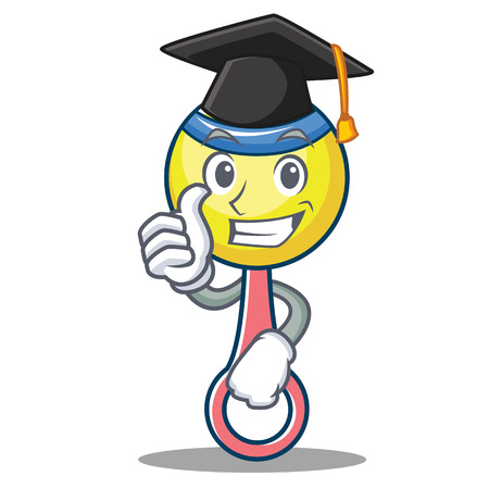 Graduation rattle toy character cartoon
