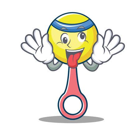 Crazy rattle toy mascot cartoon