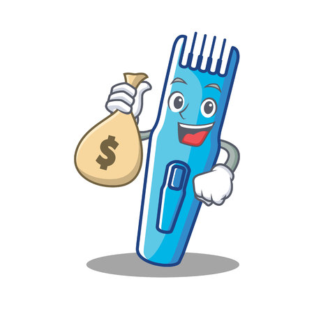 With money bag trimmer character cartoon style vector illustration Illustration