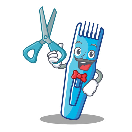 Barber trimmer character cartoon style vector illustration Illustration