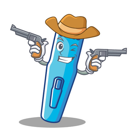 Cowboy trimmer character cartoon style vector illustration