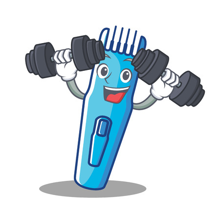 Fitness trimmer character, cartoon style vector illustration