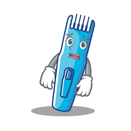 Afraid trimmer mascot cartoon style vector illustration