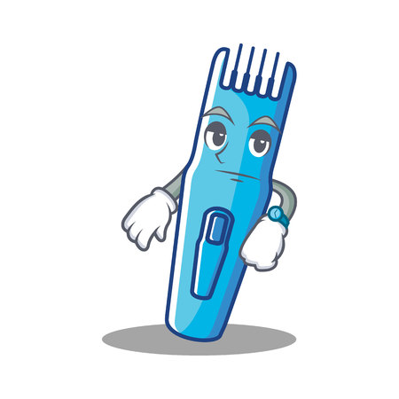 Waiting trimmer mascot cartoon style