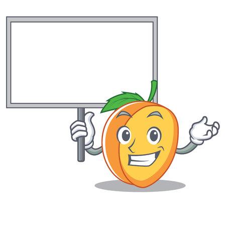 Bring board apricot character cartoon style
