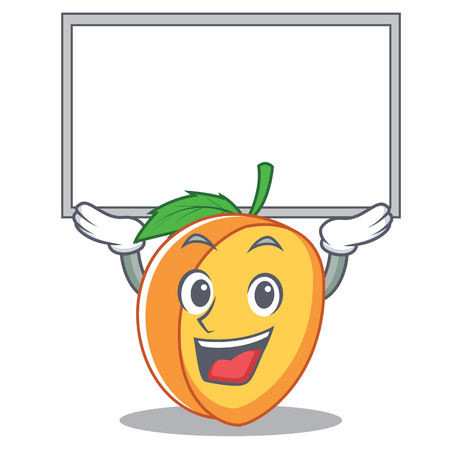 Up board apricot character cartoon style vector illustration