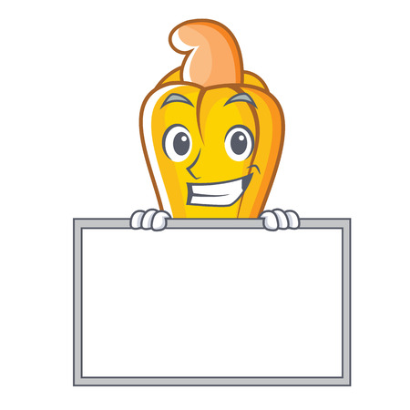 Grinning with board cashew character cartoon style