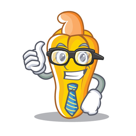 Businessman cashew character cartoon style