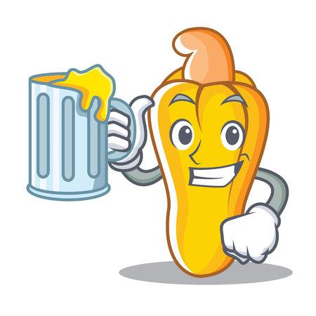 With juice cashew mascot cartoon style Illustration