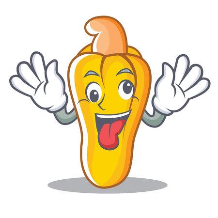 Crazy cashew mascot cartoon style