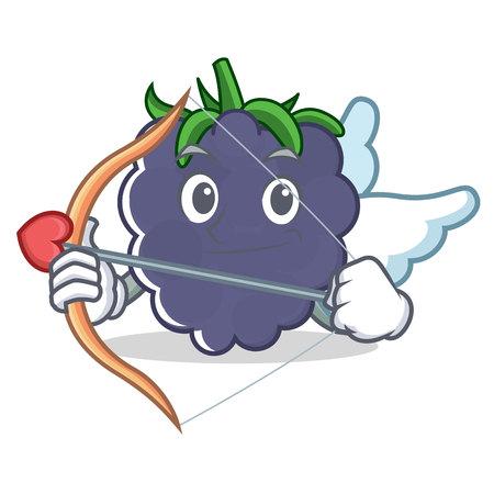 Cupid blackberry character cartoon style