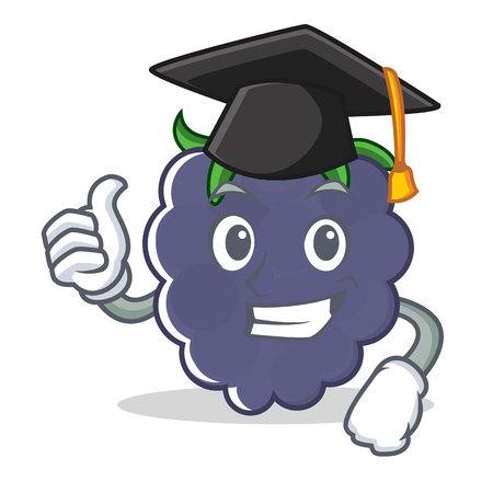 Graduation blackberry character cartoon style
