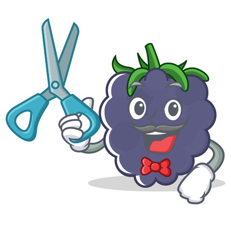 Barber blackberry character cartoon style