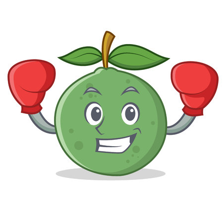 Boxing guava character cartoon style